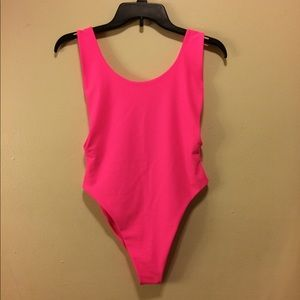 Aerie Hot Pink Scoop Back Swimsuit Size M